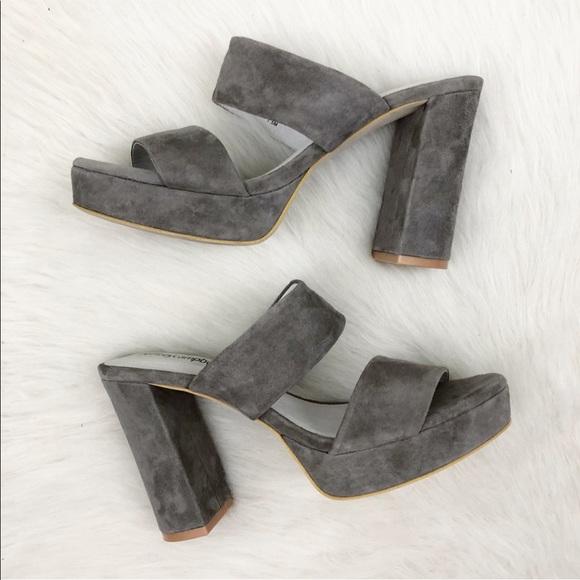 a9da649aefe6 Jeffrey Campbell Shoes - Jeffrey Campbell Adriana Grey Suede Heel Sandal